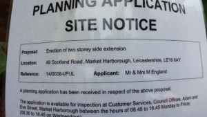 You couldnt make it up – a well timed planning application